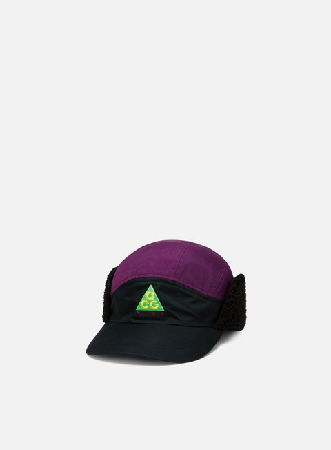 cappellini nike nsw acg tailwind sherpa cap black night purple black