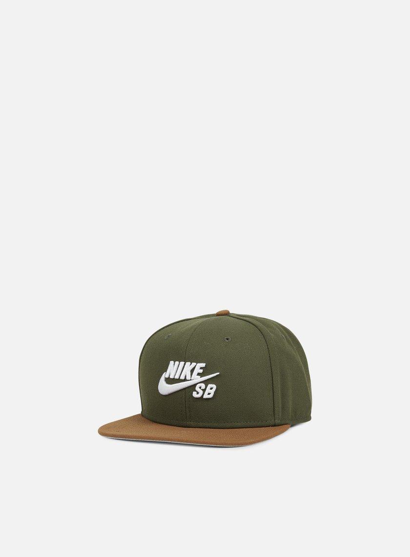 Nike SB - Icon Pro Snapback, Cargo Khaki/White