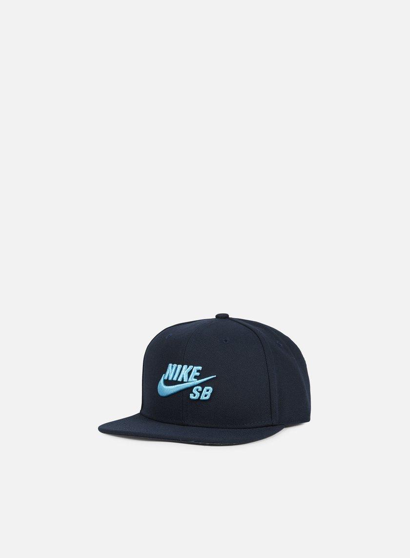 Nike SB - Icon Pro Snapback, Dark Obsidian/Omega Blue