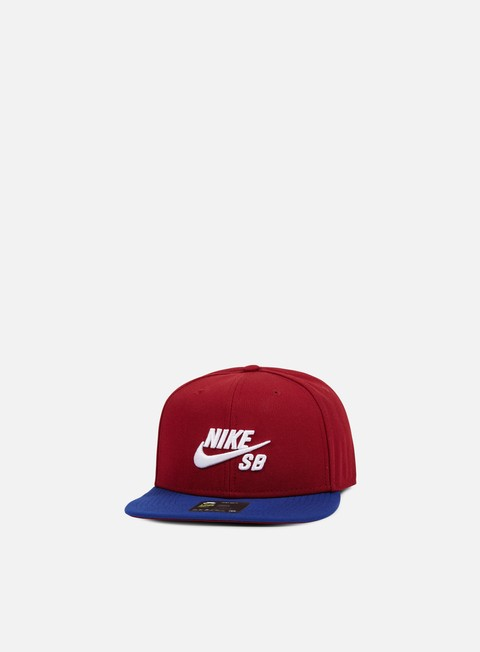 cappellini nike sb icon pro snapback team red white