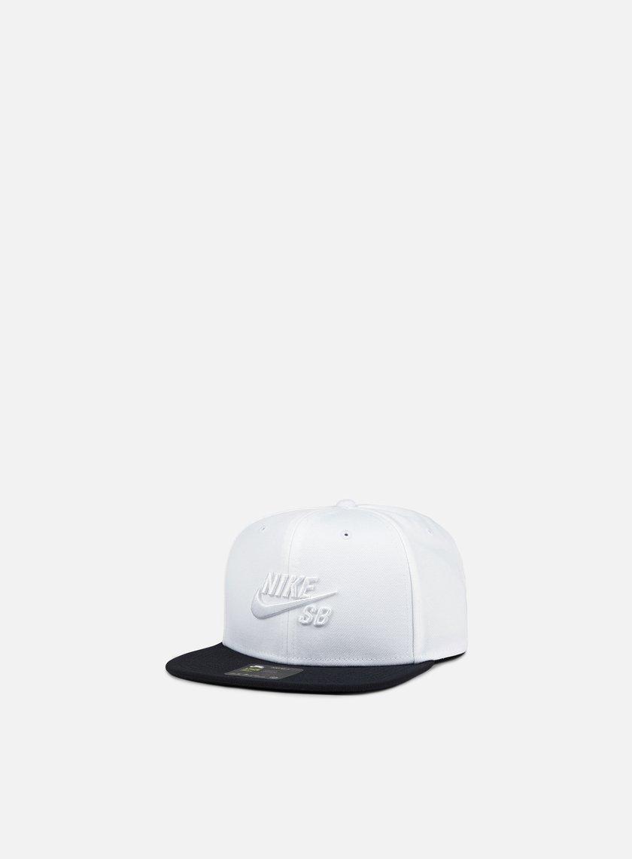Nike SB - Icon Pro Snapback, White/White