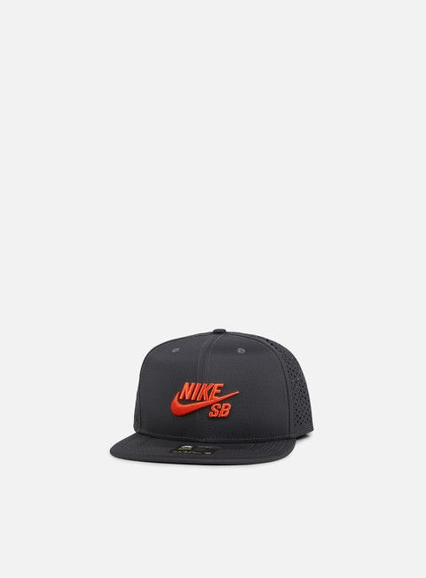 cappellini nike sb icon trucker snapback anthracite max orange