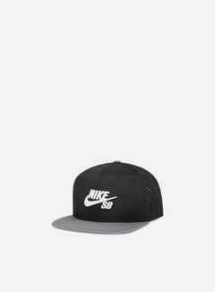 Nike SB - Icon Trucker Snapback, Black/Grey/White