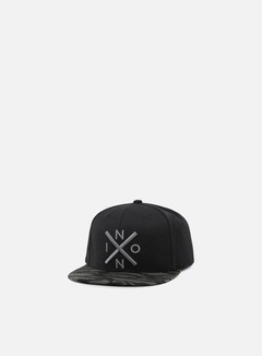 Nixon - Exchange Snapback, Black/Dark Tiger Camo