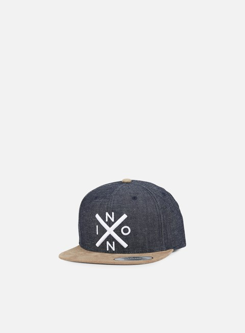 cappellini nixon exchange snapback black denim