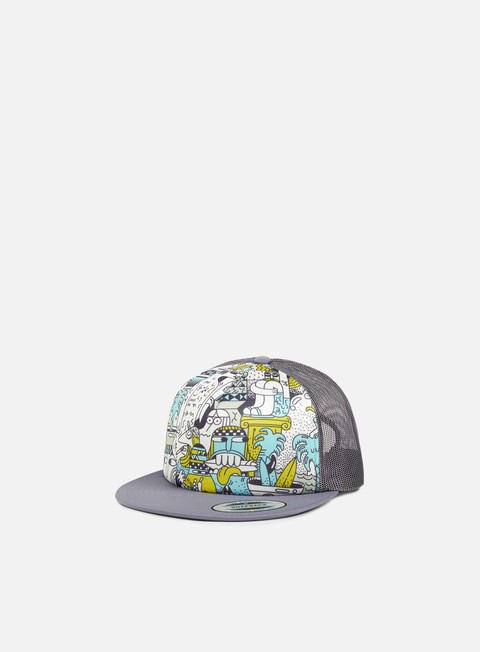 cappellini nixon pop trucker grey multi