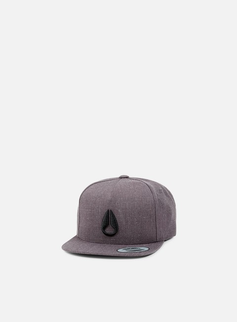 cappellini nixon simon snapback dark grey heather