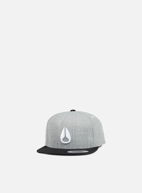 cappellini nixon simon snapback heather grey black white