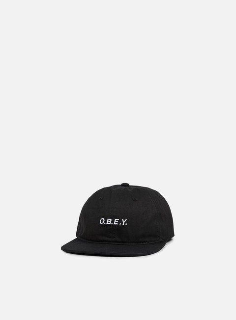cappellini obey barrage 6 panel snapback black