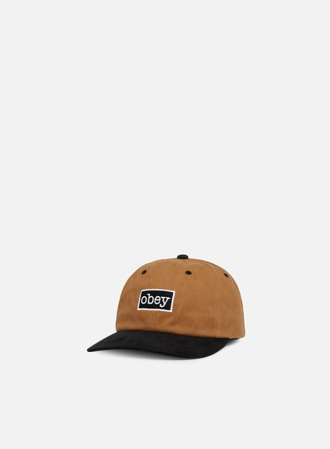 cappellini obey brooks 6 panel snapback bone brown