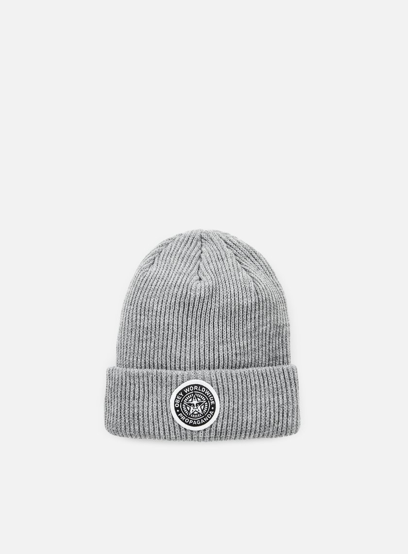 Obey - Classic Patch Beanie, Heather Grey