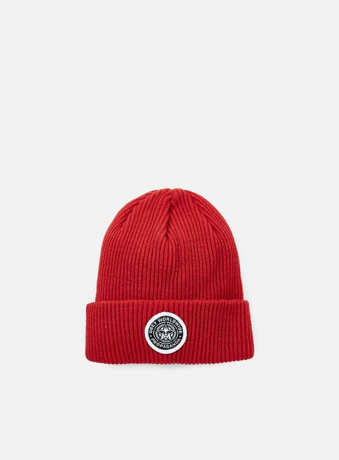 cappellini obey classic patch beanie red