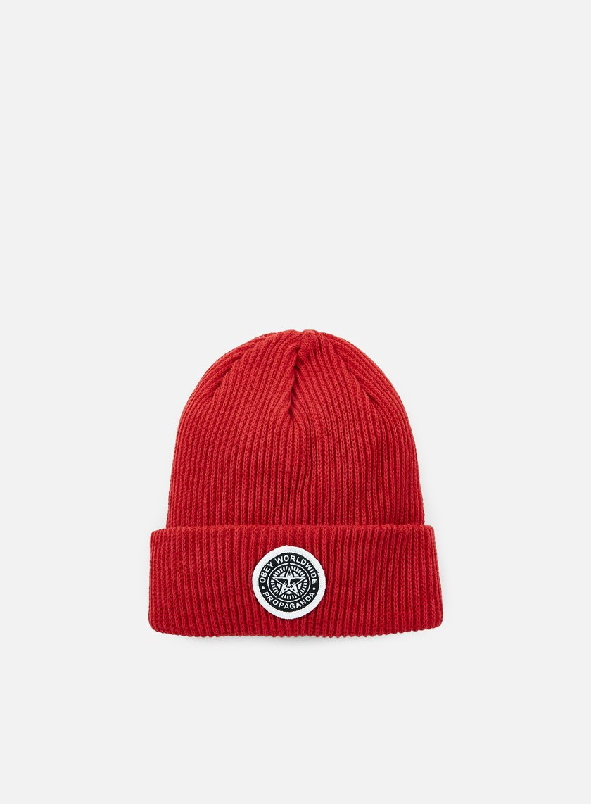Obey - Classic Patch Beanie, Red