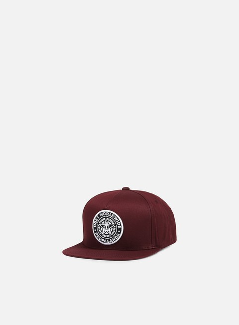 cappellini obey classic patch snapback burgundy