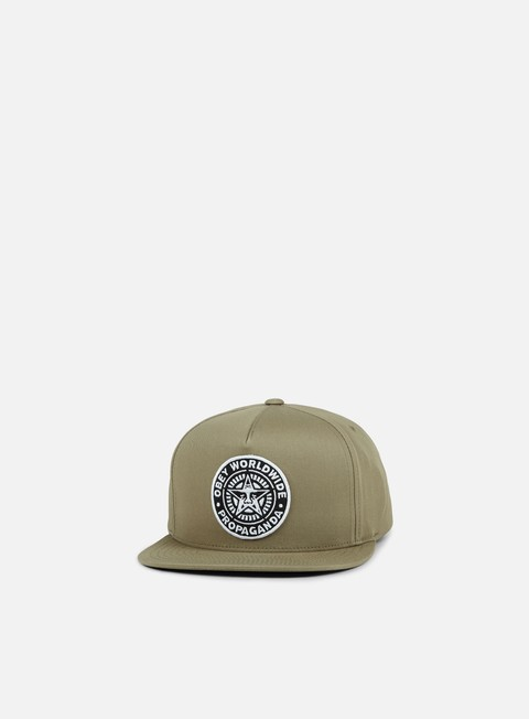 cappellini obey classic patch snapback light army