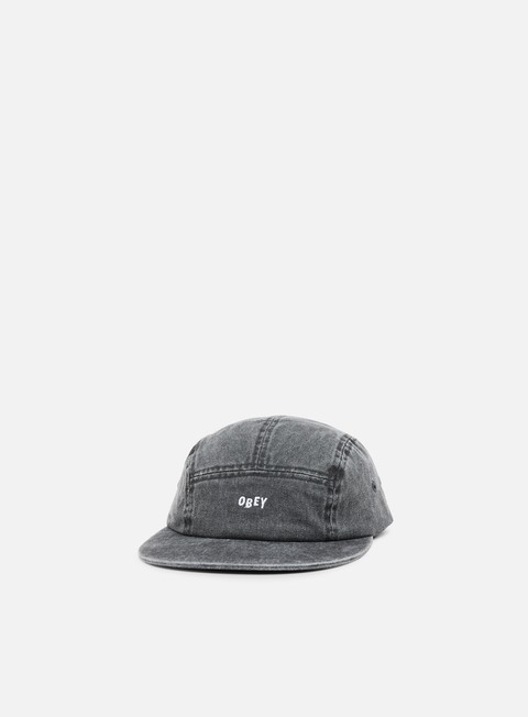 cappellini obey decades 5 panel hat black
