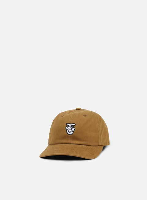 cappellini obey fubar 6 panel snapback bone brown