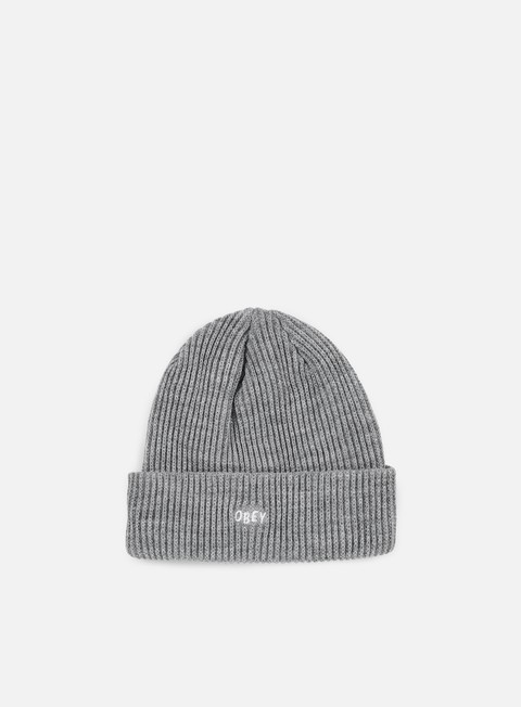 cappellini obey hangman beanie heather grey
