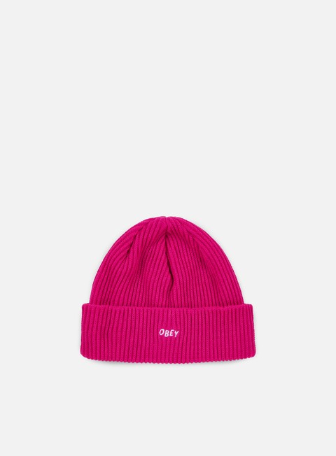 cappellini obey hangman beanie hot pink