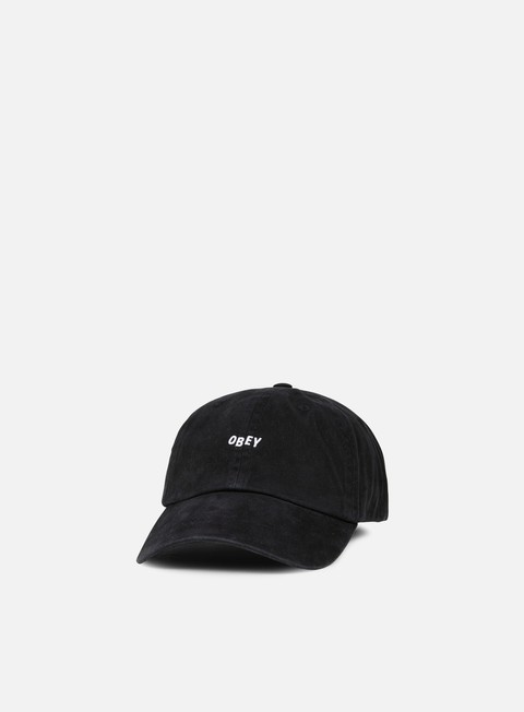 cappellini obey jumble bar 6 panel hat black