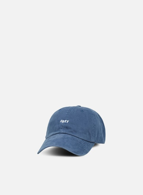 cappellini obey jumble bar 6 panel hat navy