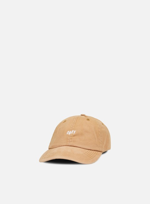 cappellini obey jumble bar 6 panel hat sand