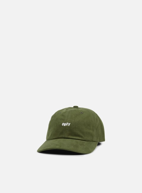 Curved Brim Caps Obey Jumble Bar III 6 Panel Hat