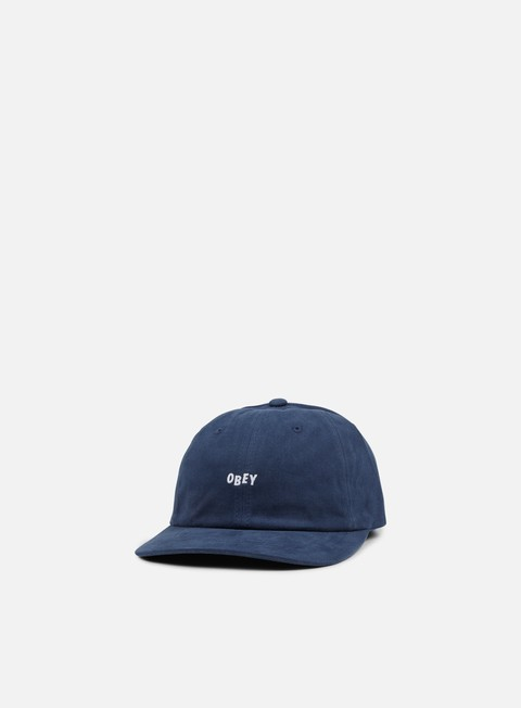 cappellini obey jumble bar iii 6 panel hat navy