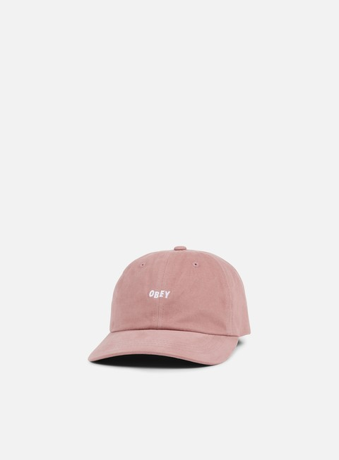 cappellini obey jumble bar iii 6 panel hat rose