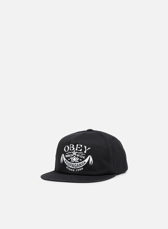 Obey - Lotus Banner Snapback, Black