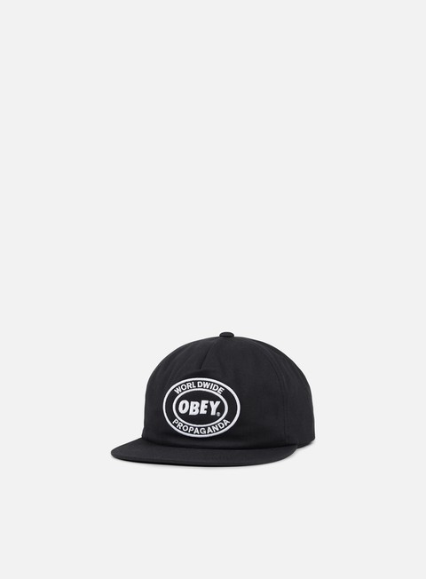 cappellini obey obey oval patch ii snapback black