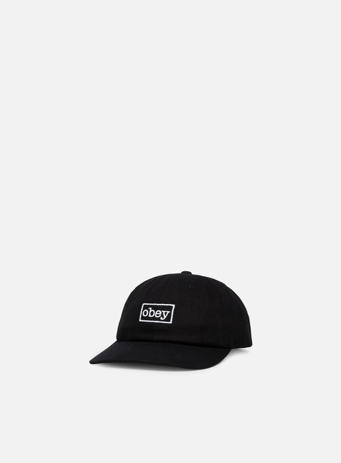 cappellini obey outline 6 panel snapback black