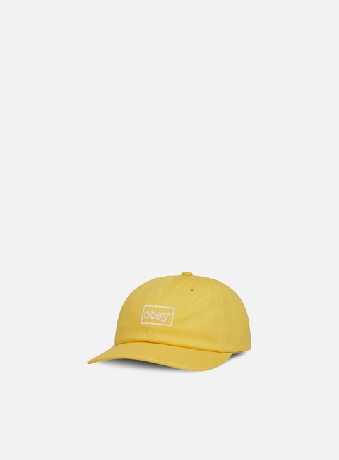 cappellini obey outline 6 panel snapback dusty yellow