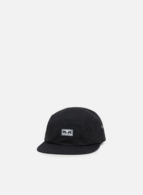 cappellini obey subversion 5 panel hat black