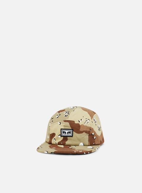 cappellini obey subversion 5 panel hat choco chip camo