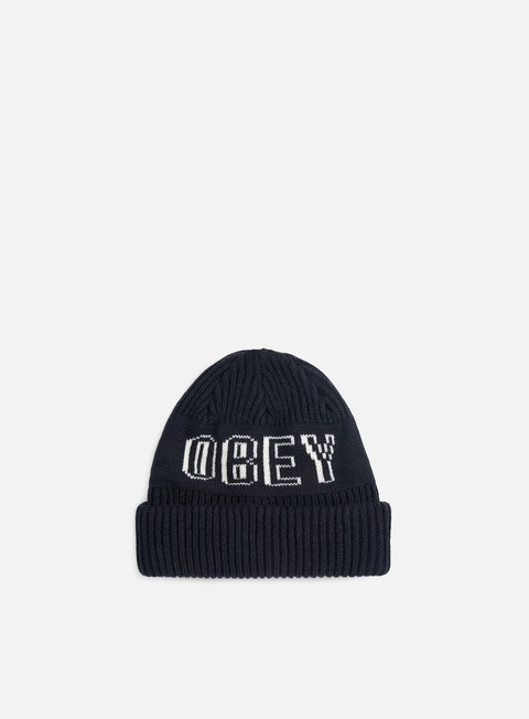 cappellini obey tailgate beanie navy