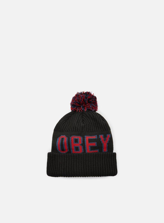 Obey - Tailgate Pom Pom Beanie, Black