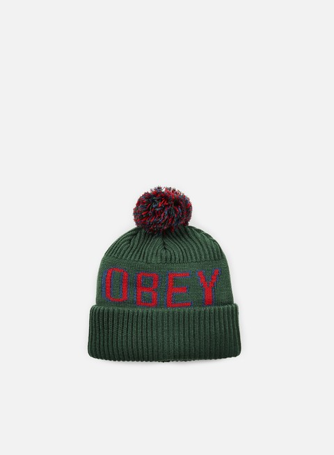 cappellini obey tailgate pom pom beanie forest