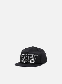 Obey - Wheels Snapback, Black 1