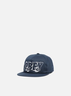 Obey - Wheels Snapback, Navy 1