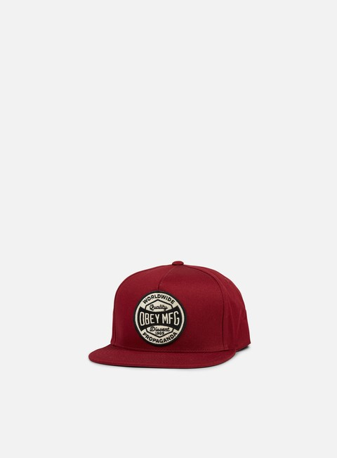 cappellini obey worldwide dissent snapback burgundy