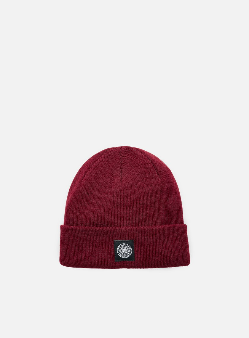 Obey - Worldwide Seal Beanie, Burgundy