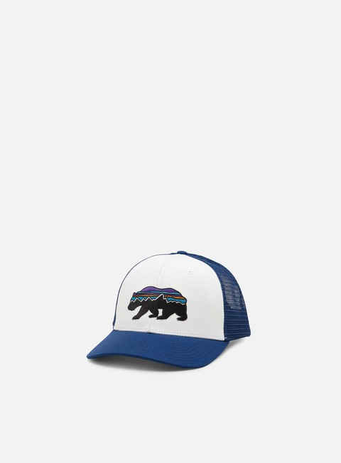 Curved Brim Caps Patagonia Fitz Roy Bear Trucker Hat