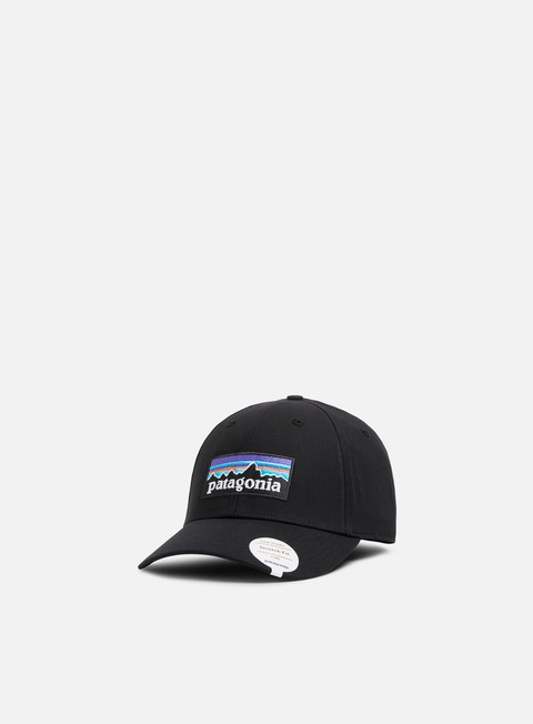 cappellini patagonia p 6 logo stretch fit hat black