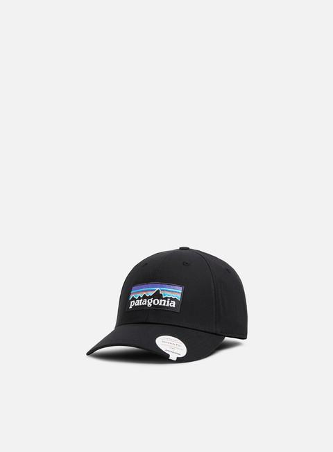 Curved Brim Caps Patagonia P-6 Logo Stretch Fit Hat