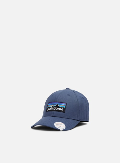cappellini patagonia p 6 logo stretch fit hat dolomite blue