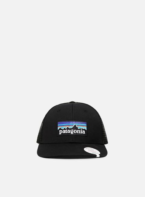 cappellini patagonia p 6 logo trucker hat black