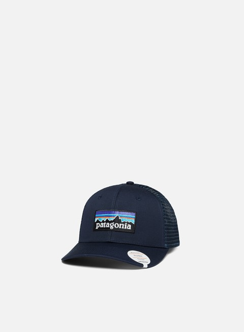 cappellini patagonia p 6 logo trucker hat navy blue navy blue