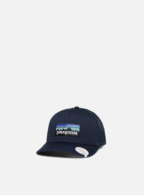 Curved Brim Caps Patagonia P-6 Logo Trucker Hat