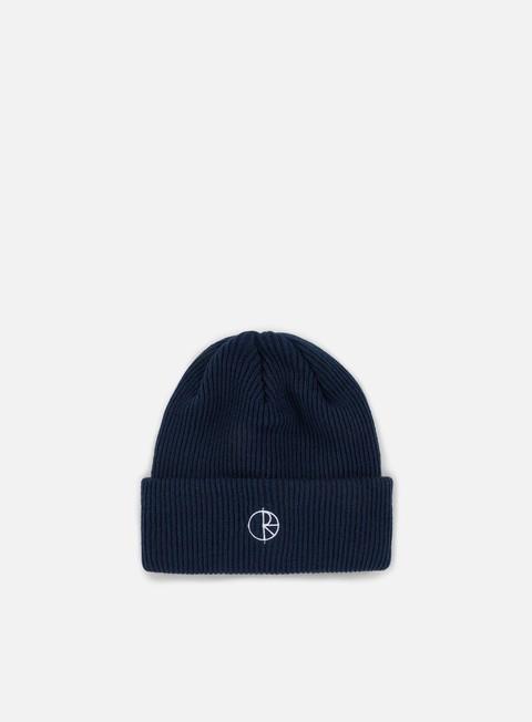 cappellini polar skate stroke logo beanie navy